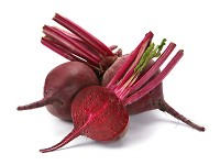 Beet purple vegetable with shadow on white background